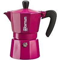 BIALETTI aeternum ALLEGRA–烧咖啡机–铝 W/黑色亚克力手柄 & 旋钮–多种尺码 & 颜色