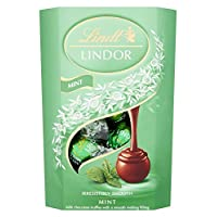Lindt Lindor Milk Mint Chocolate Truffles Box - Approximately 16 Balls, 200 g - The Ideal Gift - Chocolate Balls with a Smooth Melting Filling
