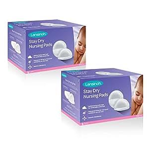 Lansinoh 兰思诺  保持干燥一次性护理垫,200个(2盒一盒100个),卓越的吸收性,超软防溢乳垫,无毒,护理用品