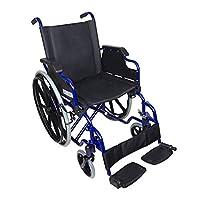 Mobiclinic 标准轮椅,折叠扶手,蓝色框架带黑色座椅,座椅宽度46厘米,Giralda 款式