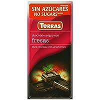 Torras 无添加糖草莓黑巧克力棒 75 克(5 件装)