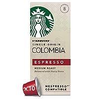 Starbucks星巴克 哥伦比亚浓缩胶囊咖啡 兼容Nespresso咖啡机(12盒,共120 粒)