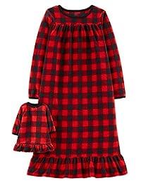 Carter's 女童微绒睡袍和娃娃礼服