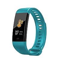 fezle 健身追踪器,心率监测手表,彩色屏幕,IP67 防水,计步器,卡路里计数器,*监测器,计步器,儿童女士和男式智能手表