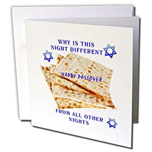 Florene Holiday - Why is This Night Different On Matzoh - 贺卡 Set of 6 Greeting Cards