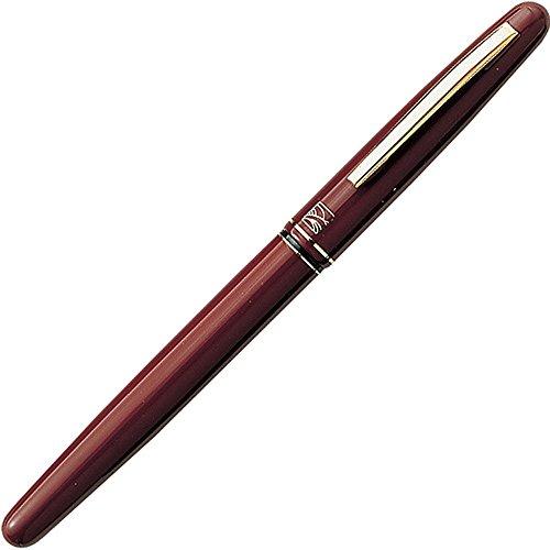 日本吴竹 本漆风格 高级万年毛笔 聚酯毛材笔尖 15号 盒装 红色 du141