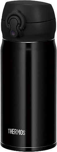 THERMOS 膳魔師 水杯 真空隔熱便攜式保溫杯【一鍵開啟式】0.35升 黑 0.35L JNL-353 JTB