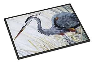 "Caroline's Treasures Blue Heron Frog Hunting Indoor or Outdoor Mat, 24"" x 36"", Multicolor"