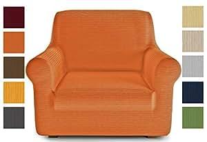 PETTI Artigiani Italiani 保护套,扶手椅套,橙色,沙发套,线性面料,* 意大利制造,(80 至 120 厘米)