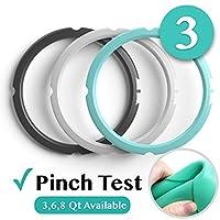 6 夸脫 IP 密封環 - 用于6夸脫 Instapot 壓力鍋的替換硅膠墊圈密封 - Insta Pot 配件適合 6QT Black, Clear, Seafoam Green 3QT (3 Pack)