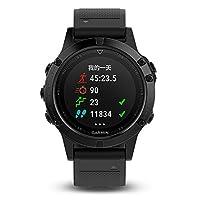 GARMIN 佳明 fenix5 DLC蓝宝石镜面国行中文版 黑色 多功能光电心率北斗GPS三星定位手表 运动户外登山骑行游泳跑步智能腕表(表盘尺寸:47mm/1.2寸)