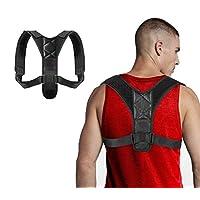 *姿势矫正器可调节姿势支撑带男女上背 - 改善姿势,防止松弛和狩猎,缓解上背和颈椎,L 码