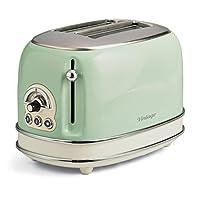 阿里亚特(Ariete)烤面包机155 多士炉 吐司机 家用烤面包机 不锈钢机身 绿色 (绿色)