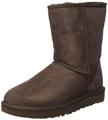 UGG 女式经典短款 II 靴子 巧克力 7 B(M) US