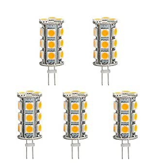 HERO-LED BTG4-18T-WW Back Pin Tower G4 LED Halogen Replacement Bulb, 3.6W, 20-25W Equal, Warm White 3000K, 5-Pack(Not Dimmable)