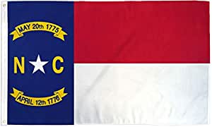 Quality Standard Flags North Carolina Polyester Flag 3 by 5'