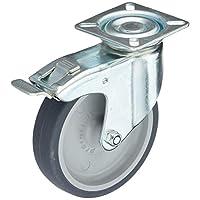 Meister castor ✓ 制动 ✓ 60x 60MM ✓ 橡胶 wheel ✓ 软 tread ✓ | / 运输滚子轴承 castor 重型卷