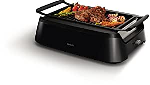 Philips 飞利浦 家用少烟电烤炉 烧烤炉电烤盘烤肉铁板烧商用家用牛排机 烧烤机 HD6371/91