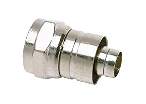 Allen Tel CT705 75-Ohm CATV Male F-Connector for RG-59 PVC Cable with Attached 1/4-Inch Ring, 5-Pack