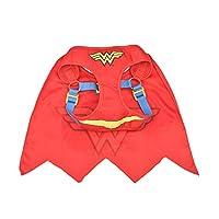DC Comics 狗狗胸背带   超人、蝙蝠侠和神奇女狗胸背带   多种尺寸*英雄狗狗胸背带 红色 大