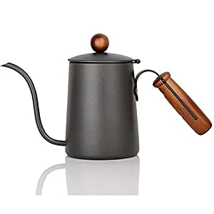 HONGJING 不锈钢双绝缘谷船/酱汁罐 - 配有 ABS 塑料盖铰链盖和手柄,400 毫升容量可保持谷物和酱汁 灰色