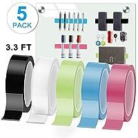 无痕纳米胶带,双面粘附握带,可水洗,可拆卸和可重复使用的粘性防滑凝胶胶胶带用于粘贴照片海报、固定地毯垫或办公室墙 3.3 FT / 1M