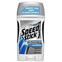 Speed Stick Power Anti-Perspirant Deodorant Unscented 3 oz (Pack of 7)