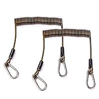 JEKOSEN 不锈钢线圈挂绳*绳,带锁扣,适用于深海钓鱼/户外 1.83 米(约 1.8 米)33磅(约 1.8 米)
