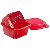 Hutzler 374TU 3合1浆果盒 红色 1 夸脱 374RD