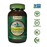 Pure Hawaiian Spirulina - 1000mg Spearmint flavor tablets 180 count – Boosts Energy and Supports Immunity – Vegan, Non GMO – Natural Superfood Grown in Hawaii