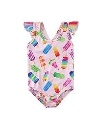 mettime 女婴西瓜图案泳衣幼童泳装婴儿比基尼连体衣
