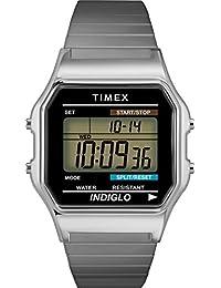 Timex 男士手表 数字手表 T78587D7,银色,无尺寸