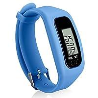 Bomxy 健身追踪手表,简单操作步行计步器,带卡路里燃烧和步数计数