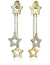 Amazon Collection 亚马逊自有品牌 镀双色18K黄金&铑 925纯银 星星造型耳饰耳针