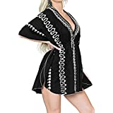 LA LEELA 女式沙滩罩衫比基尼泳装加大码宽松连衣裙