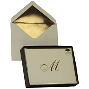 Designer Greetings Monogram Boxed Note Cards - Letter M (622-00139-000)