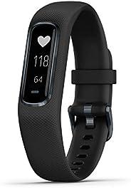 Garmin 佳明 vívosmart 4 运动健身追踪器 w/ 脉搏氧气和心率监测器010-01995-13  Black/Midnight 0.75 inches Midnight w/ Large Black Ba