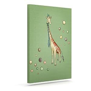 "Kess InHouse Carina Povarchik""长颈鹿""户外帆布墙壁艺术 16"" x 20"" CP1002AAC03"