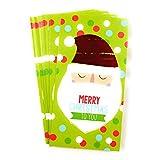 Christmas House 圣诞节现金&礼品卡袋 - 一套8个,带金属/闪光效果(Santa Face)