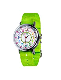 EasyRead Time Teacher 儿童手表,12 & 24 小时时间,彩虹色,石灰表带