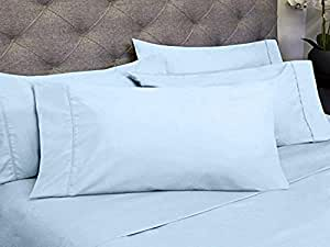 Sweet Home 系列 6 件套 Olivia Branch 1800 支超细纤维卧室床单套装 水绿色 King OB-6PC-1800-K-AQU