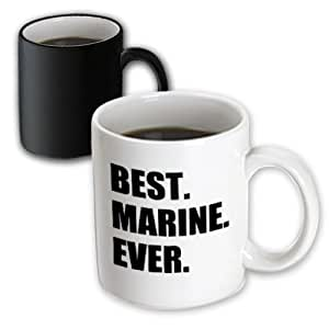 3dRose InspirationzStore 排版 - Best Marine Ever,趣味感激礼品 - 马克杯 白色 11 oz mug_185011_3