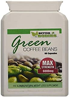 Better Bodies Green Coffee Bean Extract 6000mg 50% CGA (60) Capsules