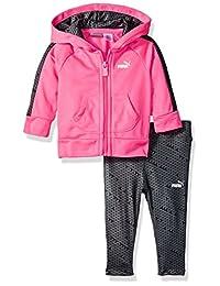 Puma 女婴运动夹克和打底裤套装