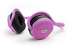 Kinivo BTH240 Bluetooth Stereo Headphone Supports Wireless Music Streaming and Hands-Free calling 粉色