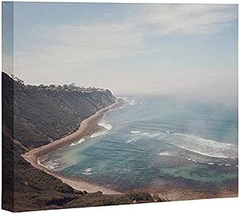 Deny Designs Catherine McDonald 加州海岸帆布,60.96 cm x 76.20 cm,蓝色
