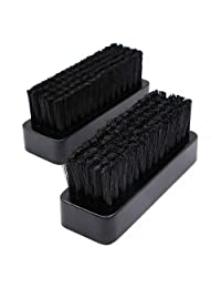JETEHO 2Pcs 4.3'' Inches Horsehair Shoe Brushes for Boots,Shoes,Other Leather Care