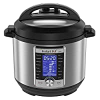 Instant Pot Ultra 6 夸脱/约5.678升 10合1多用途可编程高压锅,慢炖锅,电饭煲,酸奶机,蛋糕制造机,煮蛋器,炒锅,蒸锅,加热和消毒