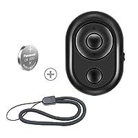 SLFC 相机快门遥控自拍带无线蓝牙,翻页,如视频,拍摄迷人视频和自拍(iOS和Android)(黑色)