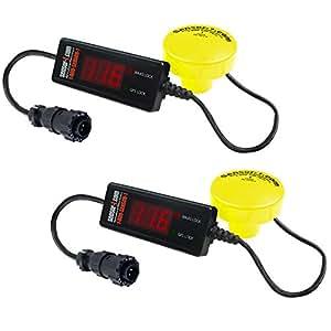 Sensor-1 DS-GPSMD-D1-YEL-2 GPS 地速传感器带 4 针安培连接器(2 个装),1 Hz